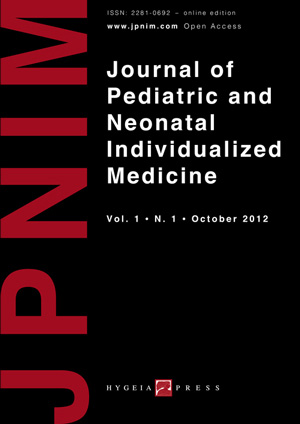 JPNIM Vol. 1 N. 1 - Cover